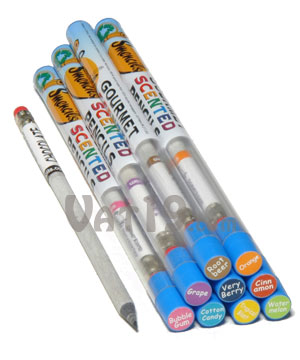 Smencils made from recycled newspaper