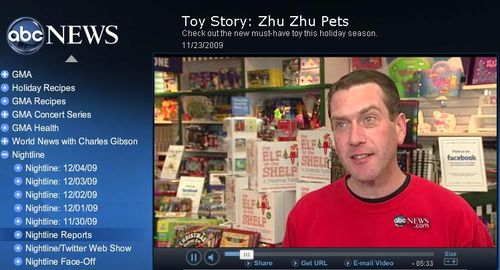 Watch Learning Express and Zhu Zhu Pets on ABC Nightline